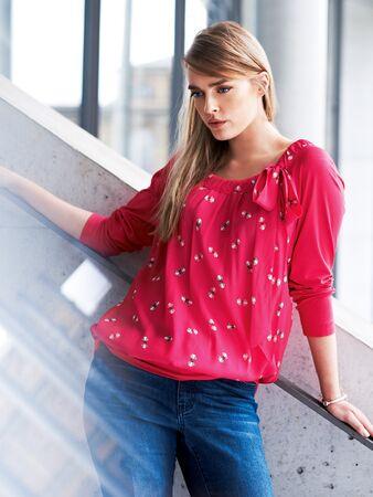 Блуза с рукавами реглан