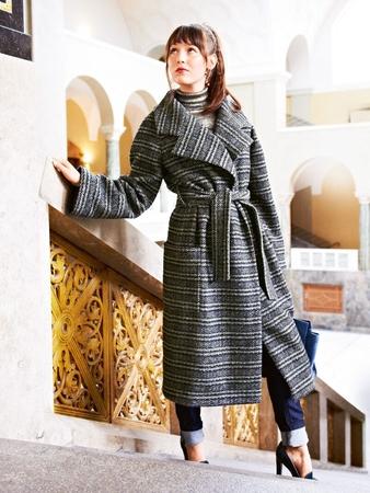 Пальто с рукавами реглан