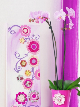 Декоративные цветы для интерьера