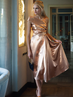 Платье асимметричного кроя