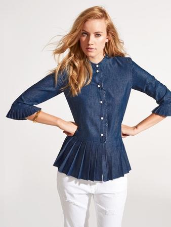 Блузка с плиссированными оборками