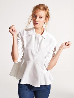 Блузка с асимметричной баской