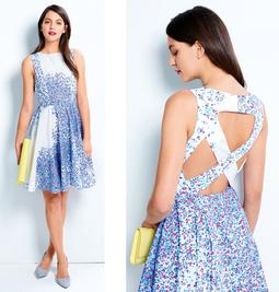 Платье с юбкой-солнце из коллекции Cacharel