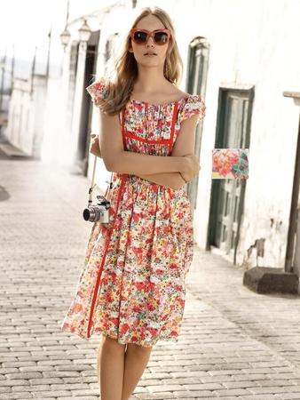 Платье с мини-рукавами реглан