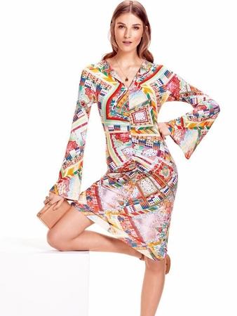 Платье с рукавами-раструбами