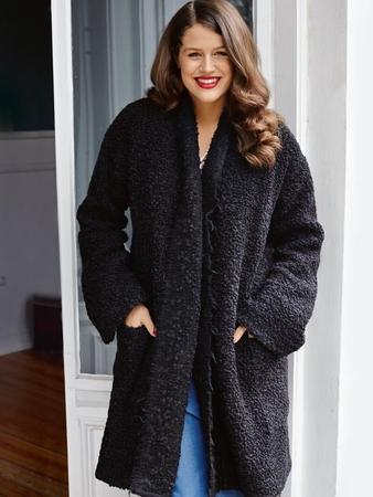 Пальто без застежки