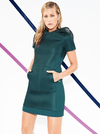 Платье с карманом-кенгуру