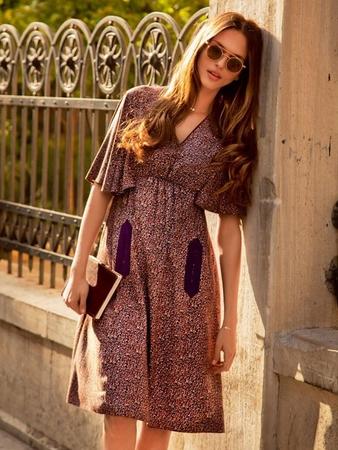 Платье с макси-«крылышками»