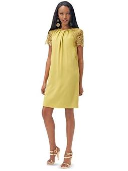 Платье с присборенной горловиной