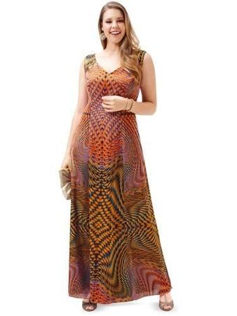 Платье длинное расклешенное