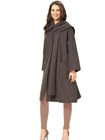 Пальто с воротником-шарфом