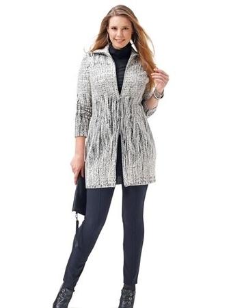 Платье-пальто приталенного силуэта