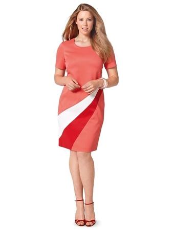 Платье в стиле колор-блокинг