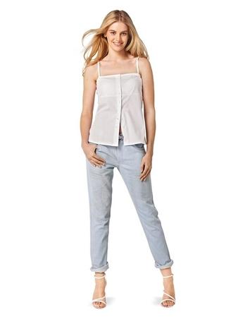 Брюки в джинсовом стиле