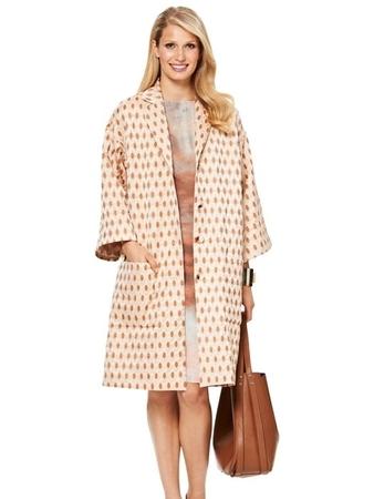 Пальто с приспущенной линией плеч