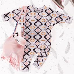 Комбинезон с рукавами кимоно