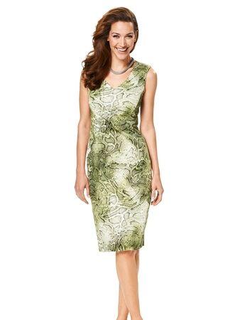 Платье с фигурными деталями