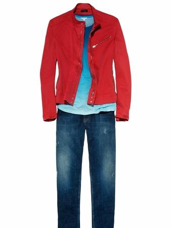 Куртка джинсовая в стиле бомбера