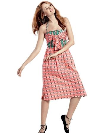 Платье-корсаж с бретелью-петлей