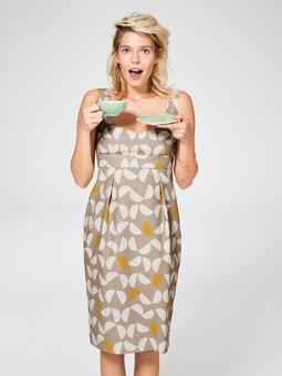Платье с высокой талией