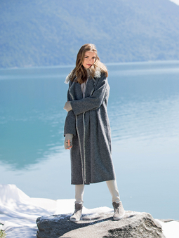 Пальто со съёмным воротником