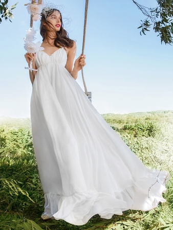 Свадебное платье-сарафан в стиле ампир