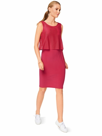 Платье с топом