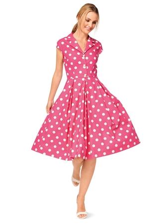 Платье-рубашка приталенного силуэта
