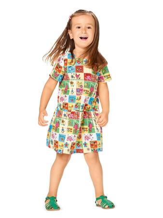 Платье с широкой оборкой