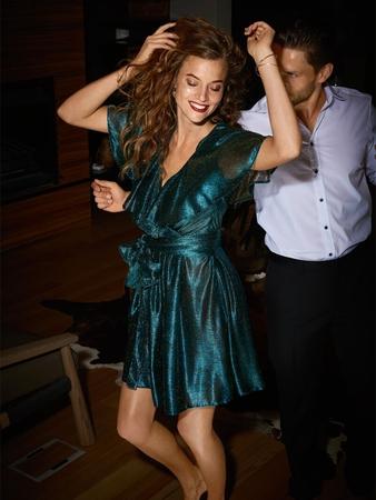Платье с макси-воланами