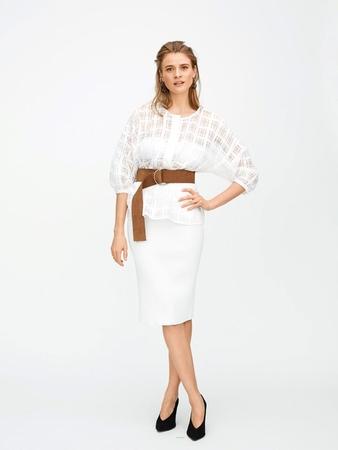 Блузка с застёжкой поло