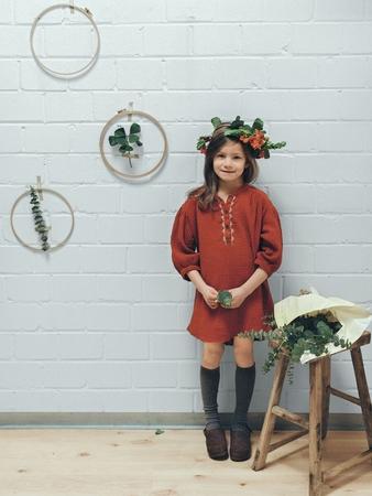 Детское платье с асимметричным низом
