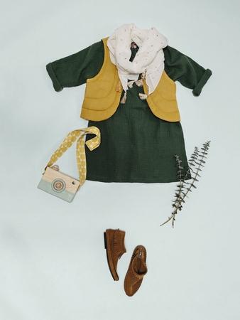 Детское платье А-силуэта с цельнокроеными рукавами
