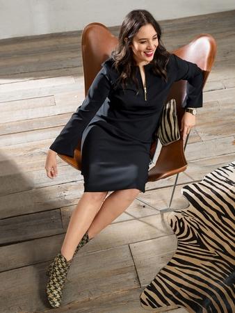 6448f34ba0f Маленькое черное платье в стиле 60-х - выкройка № 123 из журнала 8 ...