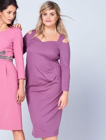 Платье с эффектом запаха на лифе