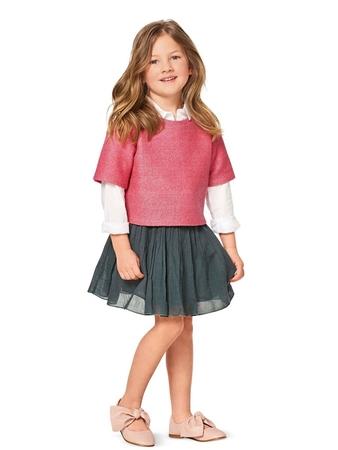 Короткий пуловер для девочки
