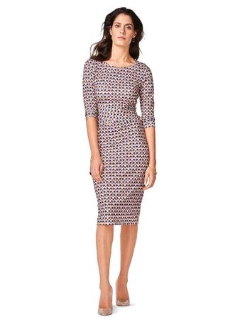Платье-футляр с фигурным поясом