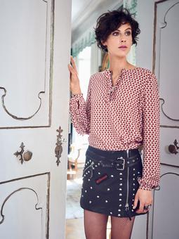Блузка с застежкой на молнию