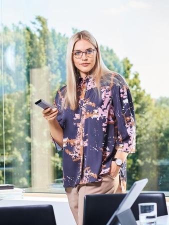Блузка с рубашечным воротником