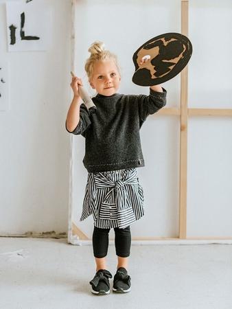 Пуловер с цельнокроеным воротником для девочки