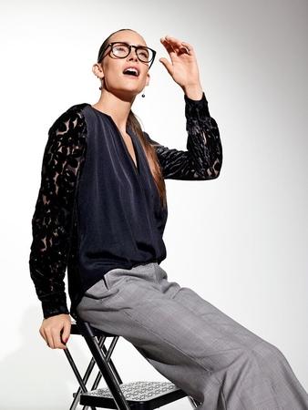 Блузка с драпирующимися полочками