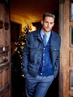 Мужская шерстяная куртка