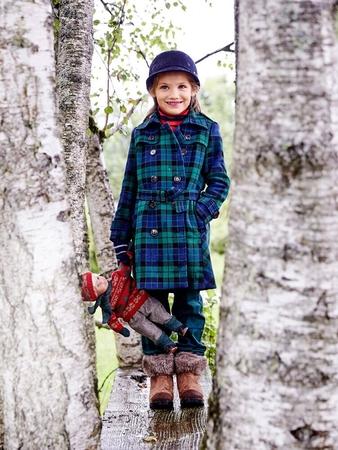 Пальто-тренчкот для девочки