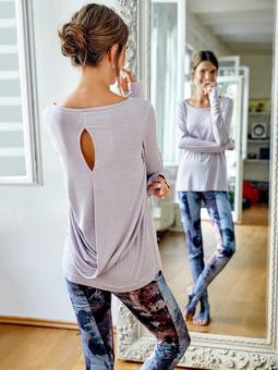 Пуловер с каплевидным разрезом на спинке
