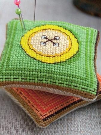 Схема вышивки «Яркие пуговицы»