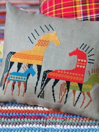 Схема вышивки «Кони, мои кони»