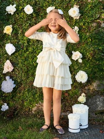 Платье с оборками для девочки