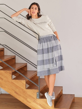 Присборенная юбка