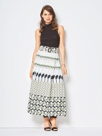 Длинная юбка со складками