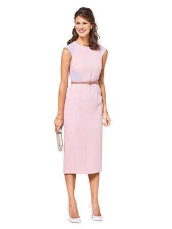 Платье-футляр в стиле колор-блокинг